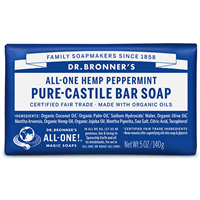 Dr Bronner`s Peppermint Castile Soap Bar - 140g