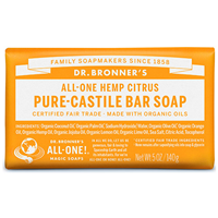 Dr Bronner`s Citrus Orange Castile Soap Bar 140g