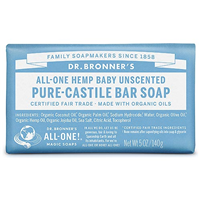 Dr Bronner`s Mild Unscented Castile Soap Bar 140g