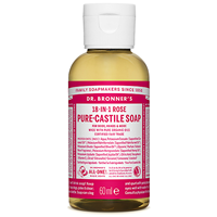 Dr Bronner`s 18-in-1 Rose Pure-Castile Liquid Soap - 60ml