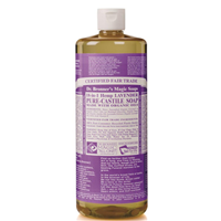 Dr Bronner`s 18-in-1 Organic Lavender Castile Liquid Soap 946ml