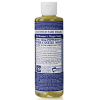 Dr Bronner`s Peppermint Castile Liquid Soap - 237ml
