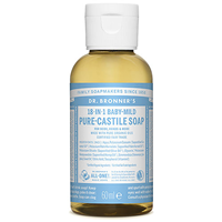 Dr Bronner`s 18-in-1 Baby-Mild Pure-Castile Liquid Soap - 60ml