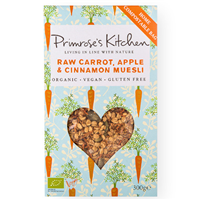 Primrose`s Kitchen Raw Carrot, Apple & Cinnamon Muesli - 300g
