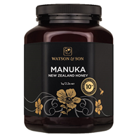 Watson and Son Manuka Honey - MGS 10+ - 1kg - Best before date is 30th June 2019