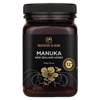 Watson and Son Manuka Honey - MGS 12+ - 500g - Best before date is 31st August 2019