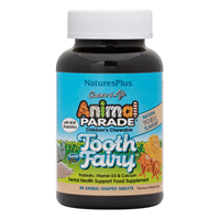Natures Plus Animal Parade Tooth Fairy 90 Vanilla Chewable Tablets