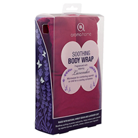 Aroma Home Soothing Body Wrap - Lavender Fragrance - Burgundy