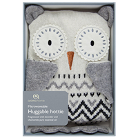 Aroma Home Sparkly Knitted Snow Owl Hottie
