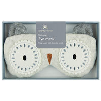 Aroma Home Sparkly Knitted Snow Owl Eye Mask