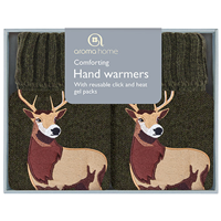 Aroma Home Knitted Stag Hand Warmers