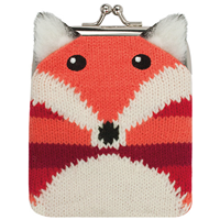 Aroma Home Knitted Fox Coin Purse