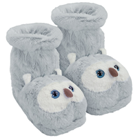 Aroma Home Fun For Feet Snow Owl Slipper Socks