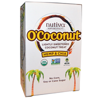 Nutiva O`Coconut Hemp & Chia- 14g x 24 Coconut Treats
