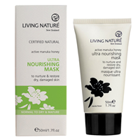 Living Nature Ultra Nourishing Mask - Active Manuka Honey - 50ml - Best before date is 30th November 2019