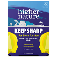 Higher Nature Keep Sharp - Brain Function - 27 Jellies - Best before date is 8th November 2019