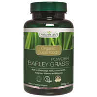 Natures Aid Organic Barley Grass Superfood Powder - 100g