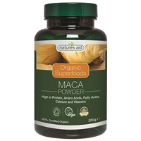 Natures Aid Organic Maca Superfood Powder - 200g - Best before date is 31st August 2017