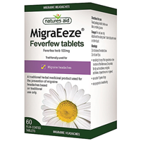 Natures Aid MigraEeze - Feverfew - 60 Tablets