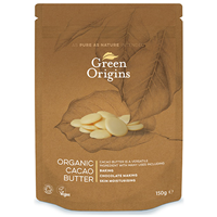 Green Origins Organic Cacao Butter - 150g - Best before date is 30th November 2018