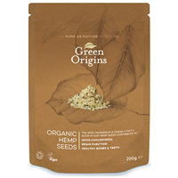 Green Origins Organic Shelled Hemp Seeds - 200g