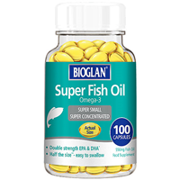 Bioglan Super Fish Oil - Omega-3 - 100 x 556mg Capsules