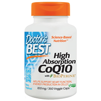 High Absorption CoQ10 - BioPerine- 360 x 100mg Vegicaps