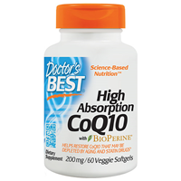 High Absorption CoQ10 - BioPerine - 60 x 200mg Softgels