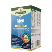Natures Aid Men`s Multivitamins & Minerals - 30 Capsules
