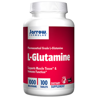 Jarrow Formulas L-Glutamine - 100 x 1000mg Tablets