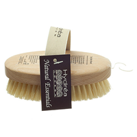 Dry Skin Brush made with Cactus Bristle and FSC Beechwood