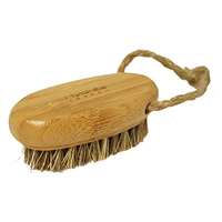 Bamboo Nail Brush with Mane and Cactus Bristle