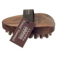 Walnut Wood Cellulite Massager with Walnut Pegs