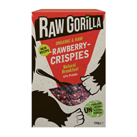 Raw Gorilla Organic Strawberry Crispies - 250g