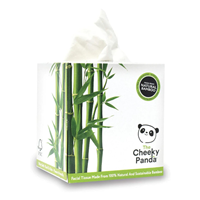 The Cheeky Panda 100% Bamboo Facial Tissue Cube Box - 56 Tissues