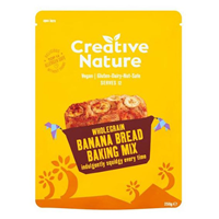 Creative Nature Organic Wholegrain Banana Bread Baking Mix - 250g