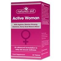 Natures Aid Active Woman - Sexual Wellness - 60 Tablets