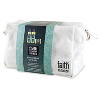Faith in Nature Blue Cedar Men`s Wash Bag