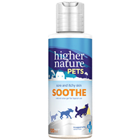 Higher Nature Pets Soothe - Sore & Itchy Skin - 120ml - Best before date is 30th September 2019