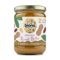 Biona Organic Peanut Butter - Smooth - 500g