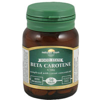 Natures Own Food State Beta Carotene - 50 Tablets