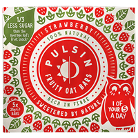Pulsin Kids Strawberry Fruity Oat Bars - 5 x 25g Pack