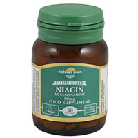 Natures Own Food State Niacin - Vitamin B3 - 50 Tablets
