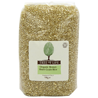 Tree of Life Organic Short Grain Brown Rice - 1kg