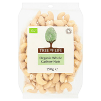 Tree of Life Organic Whole Cashew Nuts - 250g