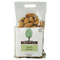 Tree of Life Organic Whole Almonds - 250g - Best before date is 23rd July 2018