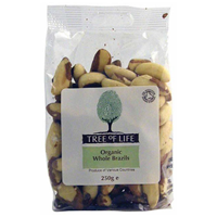 Tree of Life Organic Whole Brazil Nuts - 250g