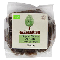 Tree of Life Organic Whole Apricots Unsulphured - 250g