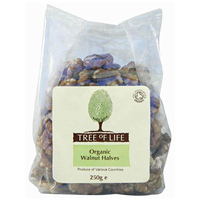 Tree of Life Organic Walnut Halves - 250g - Best before date is 31st March 2020