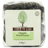 Tree of Life Organic Pitted Prunes - 250g